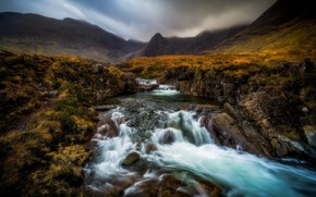 Wallpaper Scotland, Cuillin Cascade, Highland, Scotland