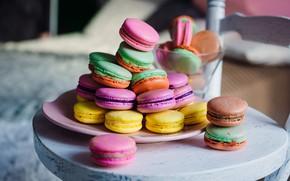 Picture color, colorful, cookies, rainbow, dessert, sweet, cookies, macaron, almond, macaroon