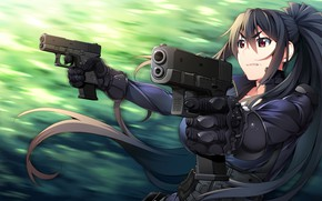 Picture girl, weapons, guns, Grisaia: Phantom Trigger