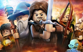 Picture game, hat, ken, Lego, The Lord of the Rings, blade, pearls, Lego The Lord of ...