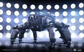 Picture Igor Sobolevsky, Recon Bot V02, robot, shadow