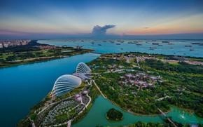 Picture landscape, night, the city, Singapore, Singapore Marina Bay