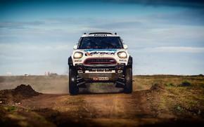 Picture Auto, Mini, White, Sport, Machine, Race, Car, Rally, SUV, Rally, The front, X-Raid Team, MINI ...