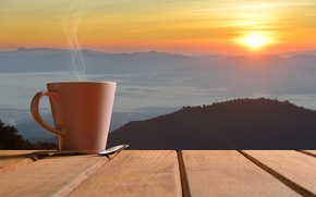 Picture coffee, coffee cup, dawn, Cup, good morning, hot, morning