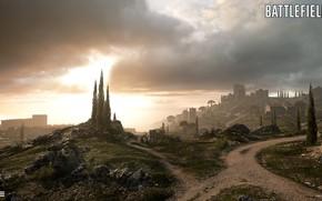 Picture road, hills, fortress, Battlefield 1, Empire's Edge