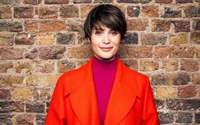 Picture portrait, short hair, Gemma Arterton