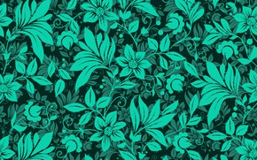 Picture flowers, green, pattern, texture, flowers