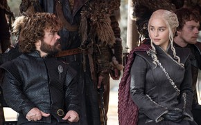 Picture actor, Game of Thrones, Emilia Clarke, Daenerys Targaryen, actress, Tyrion Lannister, Peter Dinklage