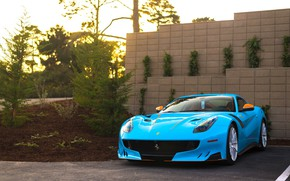 Picture Ferrari, Orange, Blue, Black, F12, TDF