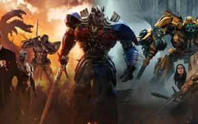 Wallpaper cinema, film, ken, sword, blade, movie, Transformers: The Last Knight, machine, Transformers, dragon, mecha