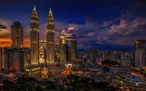 Picture light, The city, beautiful, night, night, CIty