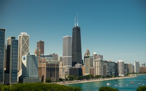 Picture Chicago, USA, America, Il, skyscraper, Willis Tower, Sears Tower, Willis tower, Sears tower