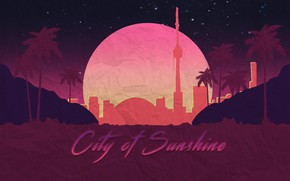 Picture The sun, Music, The city, Neon, Art, Neon, Synthpop, Darkwave, Synth, Retrowave, Synthwave, Synth pop, …