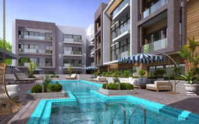 Picture water, umbrellas, MODERN APARTMENT, SWIMMING POOL, dharwarwala pool