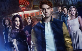 Wallpaper girl, woman, man, TV series, The CW Television Network, Riverdale