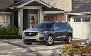 Picture car, mansion, Grey, Buick, Metallic, Enclave