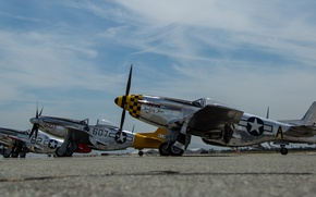 Wallpaper P-51D, the airfield, fighters