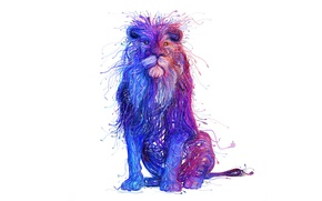 Wallpaper style, paint, Leo