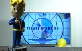 Picture Room, TV, Fallout, Bethesda Softworks, Bethesda, Figure, Bethesda Game Studios, Vault Boy, Vault-Tec, Vault Boy, …