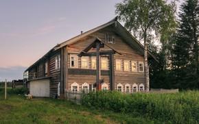 Wallpaper Arkhangelsk oblast, Pechysche, summer, the evening, village