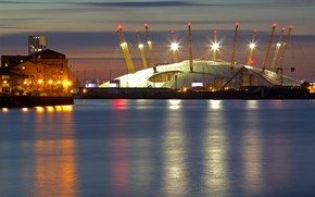 Picture night, lights, England, London, stadium, O2 Arena