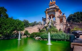 Picture water, bridge, fountain, Spain, Barcelona