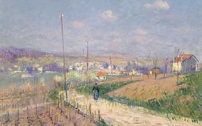 Picture landscape, picture, Gustave Loiseau, Spring in Ile-de-France, Gustave Loiseau