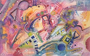 Picture magic, oil, Figure, pastel, markers, gouache, acrylic, brilliance, gel, Abstract, Lena Horn, paper for pastels. …