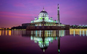 Picture landscape, city, the city, mosque, landscape, Kuala Lumpur, Kuala Lumpur, mosque