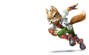 Picture the game, art, Fox, Super Smash Bros, super smash bros wii u fox