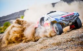 Wallpaper Red Bull, Peugeot 2008 DKR, Speed, Dirt, Sport, Lights, DKR, 2008, Rally, Race, Dakar, Dakar, ...