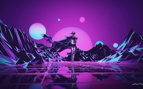 Picture Music, Robot, Neon, People, Hills, Background, Synthpop, Darkwave, Synth, Low Poly, Retrowave, Synth-pop, Sinti, Synthwave, …