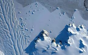 Picture snow, Antarctica, photo NASA, Matusevich Glacier