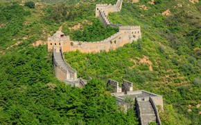 Picture greens, forest, the sun, trees, China, the bushes, The great wall of China, The great …