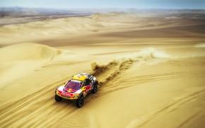 Picture Sand, Auto, Sport, Machine, Race, Peugeot, Red Bull, 300, Rally, Dakar, Dakar, SUV, Rally, The …
