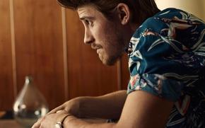 Picture face, hairstyle, actor, profile, shirt, photoshoot, Garrett Hedlund, Garrett Hedlund, Man of the World, John …