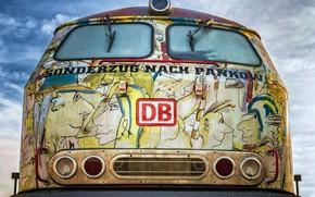 Picture graffiti, train, hdr, urban, ultra hd