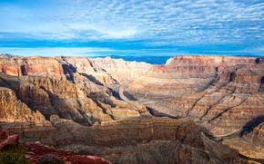 Picture mountains, rocks, blue sky, Desert, arid