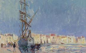 Picture ship, home, picture, the urban landscape, Gustave Loiseau, Gustave Loiseau, The Martigues. The Port of …
