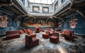 Picture background, chairs, hall