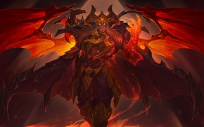 Picture art, lol, moba, Swain, dragon master, the Noxian Grand General
