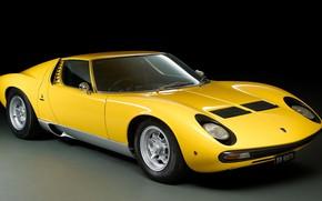 Picture Color, Auto, Yellow, Lamborghini, Machine, 1971, Lights, Car, Supercar, Lamborghini Miura, P400, SVJ, Lamborghini Miura …