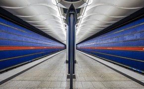 Picture metro, station, Germany, Munich, the platform, support