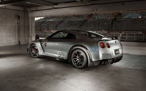 Picture Wheel, Machine, GTR, Nissan, Mirror, Drives, Racing, Sport, The room, Silver