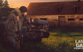 Picture House, Weapons, House, Gun, Man, Forest, Apocalypse, Bomb, Survival, Survival, Last Day on Earth, Vzyvchatka