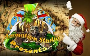 Picture children, Palma, holiday, island, turtle, map, New year, show, pirates, Santa Claus, Santa Claus, adventure, ...