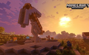 Picture game, Minecraft, route, arrow, checkered, indication, XBox One Edition