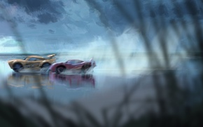 Picture car, cinema, Disney, Cars, race, speed, movie, film, artwork, animated film, animated movie, Cars 3