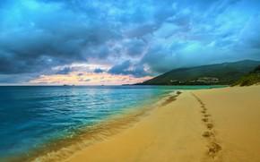 Picture beach, ocean, sand