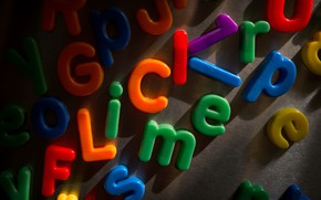 Picture macro, letters, background